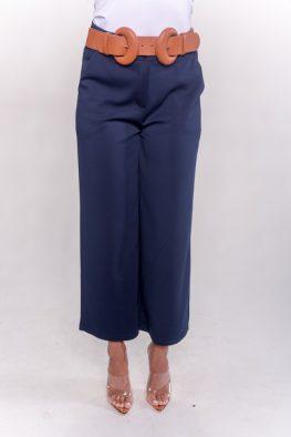 Γυναικεία παντελόνα με κουμπιά και τσέπες