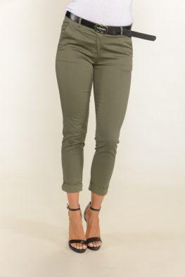Γυναικείο παντελόνι με τσεπάκια και ρεβέρ
