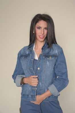 Τζιν denim jacket γυναικείο με κουμπιά