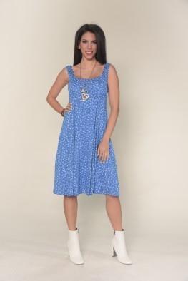 Φόρεμα Midi χωρίς μανίκι με λουλουδάκια