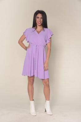 Mini φόρεμα με βολάν στο μανίκι